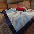Baby Essentials Red Car Auto Blue Fleece Satin Rattles Security Blanket Lovey Plush