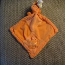 Disney Orange Tigger Plush Pocket Dragonfly Block Patch Lovey Security Blanket