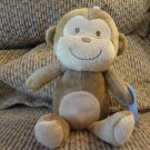 NWT Carters Just One You Tan Monkey Brown Sewn Eyes Mouth Nose Lovey Plush 9""