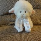 Aurora Baby Jesus Loves Me Pink White Satin Bow Hooves Lamb Lovey Plush