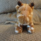 Russ Berrie Longfellow #21010  Brown White Giraffe Lovey Plush 6""