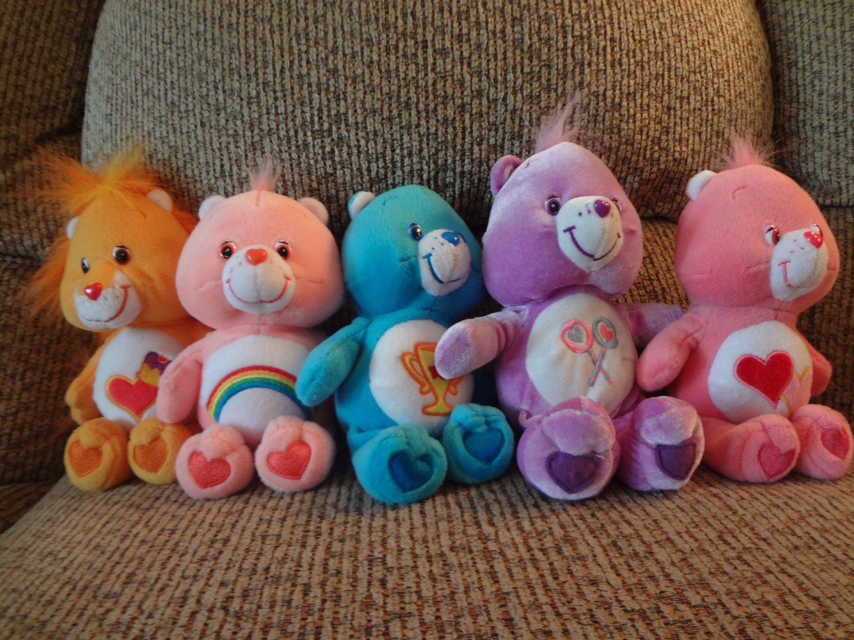 TCFC And Nanco Care Bears Lot Of 5 Braveheart Love A Lot Cheer Champ Share Lovey Plush