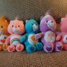 TCFC And Nanco Care Bears Lot Of 5 Braveheart Love A Lot Cheer Champ Share Lovey Plush