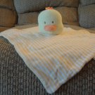 Mamiye Brothers Yellow Orange White Striped Duck Duckling Ducky Security Blanket Lovey 11x12""