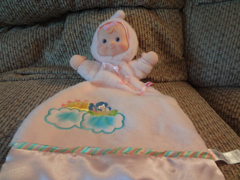 2001 Fisher Price Mattel Flutterbye Birds Pink Doll Dolly Lovey Security Blanket Plush