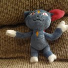 Pokemon Nintendo Sneasel Cat Generation 2 Ice Type Gray White Pink Lovey Plush 7""