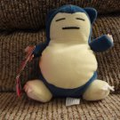 WT 1998 Hasbro Pokemon Generation 1 Normal Type Snorlax Blue Gray Yellow 6""