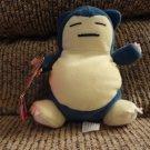 "WT 1998 Hasbro Pokemon Generation 1 Normal Type Snorlax Blue Gray Yellow 6"""