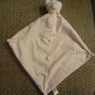 Angel Dear Pink White Kitty Cat Nubby Microfleece Collar Lovey Security Blanket 12x12""