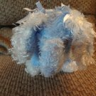 Bouquet Enterprises Inc #D4750 Light Blue White Soft Furry Elephant Plush 11""