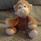 "Mary Meyer Brown Fleece Tan Velour Monkey Lovey Plush 7"""