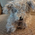 WT 2000 Ty Classics Floppy Rags Curly Twisty Gray Fur Terrier Puppy Dog Lovey Plush 15""