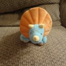 NWT 2014 Animal Adventure Sweet Sprouts Triceratops Dinosaur Lovey Orange Blue Plush 12""