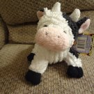 "NWT Brass Button Bears Old MacDonald's Farmyard Friends Casey Cow Moos Plush Lovey 13"""
