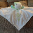 Carters One Size White Green Stars Giraffe Finger Puppet Rattles Lovey Security Blanket 13x14""