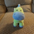 Carters Just One Year Stripes #96918 Green Blue Lovey Rattles Giraffe Plush 9""