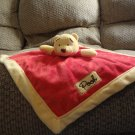 Disney Baby Winnie The Pooh Red Gold Lovey Classic Pooh Security Blanket 13x13""
