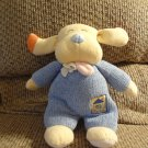 2000 Emu Namae Carters #33749 Blue Knit Going Home Lovey Rattles Long Ear Puppy Dog Plush 11""