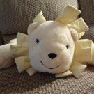 Mary Meyer Barney's New York Floppy Yellow White Striped Taggies Lovey Lion Plush 19""