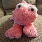 Mary Meyer Flip Flops Pink Hot Pink #6192 Extremely Relaxed Animals Frog Lovey Plush 10""