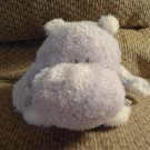 "2006 Baby Boyds Lavender Purple Dumpling Hippo Rattles Lovey Plush 9"""