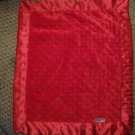 Silky! By Cherish & Joy Red Lovey Minky Dot Satin Security Blanket 15x18""