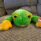 WMT 1998 Retired Ty Beanie Buddy Lovey Smoochy Green Frog Plush 15""