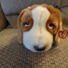 WMT 1998 Retired TY Beanie Buddy Lovey Tracker Basset Hound Puppy Dog Plush 15""