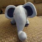 "2006 Gym-Mark Inc Gymboree Light Blue Navy Blue Lovey Elephant Plush 14"""