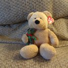 WT 2005 Ty Pluffies Beary Merry Holding Little Green Red Plaid Teddy Lovey Bear Plush 10""