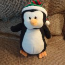WMT 2007 Ty Pluffies Freeze Black White Orange Holiday Stocking Cap Penguin Lovey Plush 9""