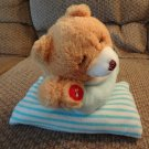 Goffa International Corp Praying Talking Blue Pajama Striped Pillow Laying Teddy Bear Plush 12""
