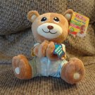 NWT Nuby #92424 Prayer Pal Tan Green Cloud Pajama Praying Talking Teddy Bear Lovey Plush 7""