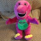 "2000 Hasbro Playskool e Specially My Barney Purple Dinosaur Musical Talking Christmas Plush 13"""