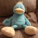 "2010 Animal Adventure Turquoise Blue Yellow Bird Plush Lovey 11"""