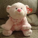 """WMT 2012 Ty Pluffies Tylux Pink Amore Bear Cub Lovey Plush 11"""""""