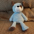 """Carters #39031 Blue Brown Spot Lovey Puppy Dog Plush 10"""""""