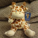 WT 2008 Plushland Yellow Brown Spotted Mother Child Giraffe Lovey Plush 7""