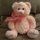 2010 Ty Classic Isabella Pink Hearts Teddy Bear Lovey Plush 10""
