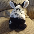"2004 Manhattan Toy White Black Striped Pudgy Zebra Horse Plush 14"""