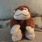 2010 Animal Adventure Soft Fur Brown Tan Monkey Heart Bow Plush 13""