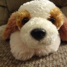 "PeoplePals Aurora Cream Carmel Brown Floppy Lovey Puppy Dog Plush 13"""