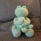 """Russ Berrie Baby #21827 Froggles Green Dottie Dot Polka Dot Mother And Baby Frog Lovey Plush 8"""""""