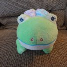Baby Aurora Star Heart Flower Sensory Crinkle Squeak Rattle Green Frog Lovey Plush 12""