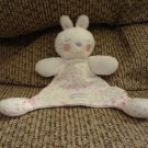 2010 Vitamins Baby #BV2130 White Pink Purple Bunny Rabbit Security Blanket Lovey 7x8""