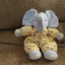 "1999 Carters John Lennon #3255 Elephant Lovey Rattles Pajama Plush 10"""