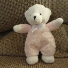 Carters Just One Year #27829 Rattles Pink White Teddy Bear Lovey Plush 8""