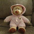 """2010 Ty Baby Pluffies Pink PJ Bear Pajamas Large Plush 10"""""""