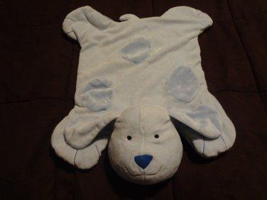 "Manhattan Baby #014321 Blue Light Blue Spotted Lovey Puppy Dog Plush Blanket 19x20"""