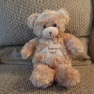 "Sandra Magsamen Messages From The Heart Tan Teddy Bear Heaven Sent Lovey Plush 12"""""